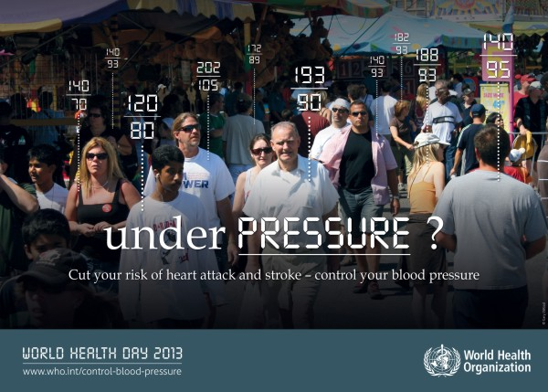 OMS faz alerta sob os perigos da pressão alta