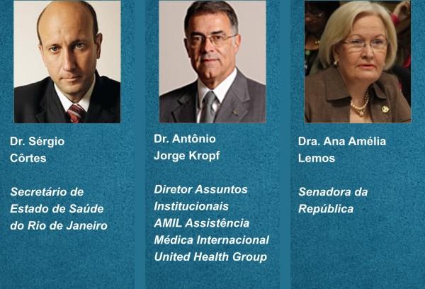Lideranças do setor saúde em evento da FEHOSUL