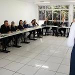 Palestrante explicou sobre o processo seletivo em sua instituição
