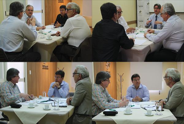 Nova diretoria do IPE-Saúde visita a FEHOSUL