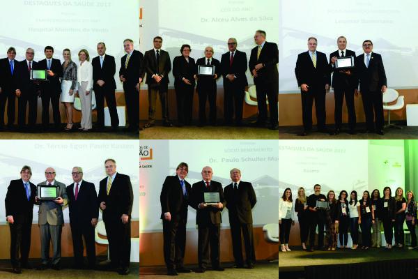 FEHOSUL, AHRGS e SINDIHOSPA homenageiam osDestaquesdaSaúdede 2017