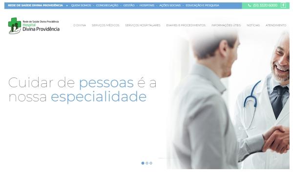 Rede de Saúde Divina Providência amplia informações e relacionamento com novo site
