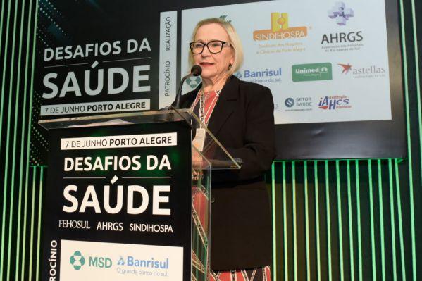 Secretária Arita Bergmann apresenta os desafios e as novas iniciativas da Saúde do RS
