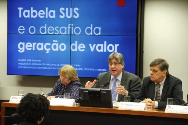 Presidente da FEHOSULparticipa de debate sobre a Tabela SUS na Câmara dos Deputados