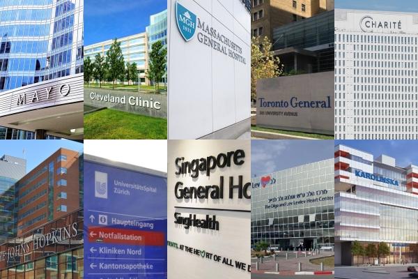Os 50 melhores hospitais do mundo