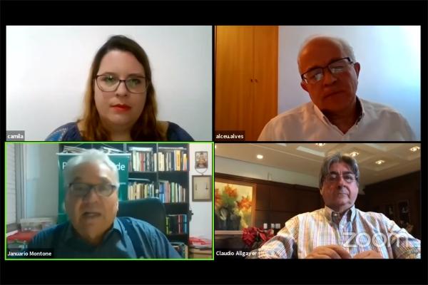 Alceu Alves da Silva, Januário Montone e Cláudio Allgayer debatem tomada de decisão na pandemia