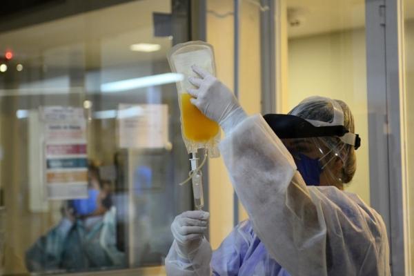 Hospital Virvi Ramos realiza a primeira transfusão de plasma convalescente no tratamento da Covid-19