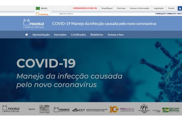 Fiocruz lança curso sobre manejo da infecção causada pelo novo coronavírus