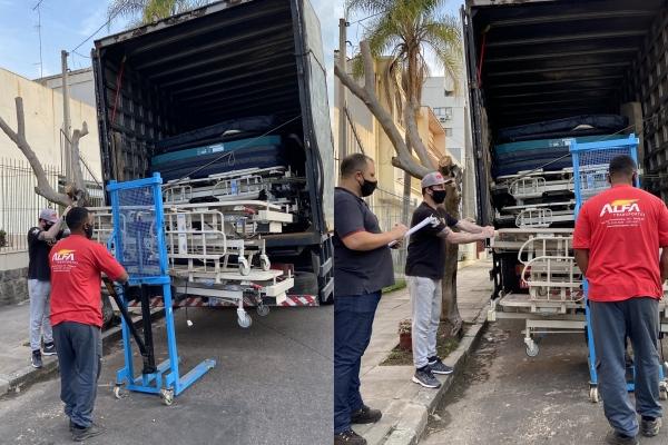 Hospital Moinhos doa móveis e equipamentos para três hospitais gaúchos