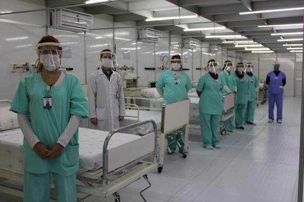 Hospitaldecampanha junto aoHospitalDom João Becker completa um mêsdefuncionamentoem Gravataí