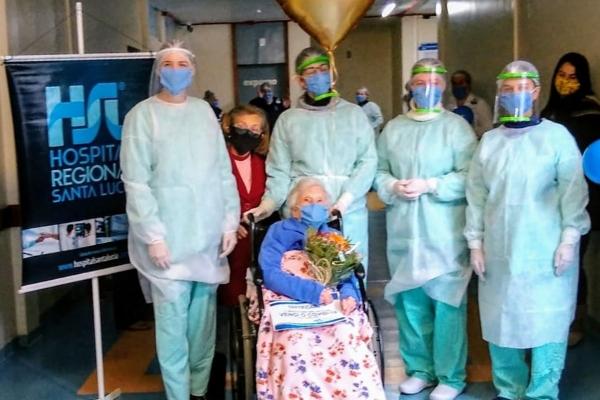 Idosa de 102 anos é a paciente com mais idade a se recuperar da Covid-19 no RS