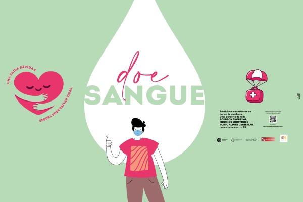 BourbonShopping, Moinhos Shopping e Porto Alegre CenterLar lançam campanha para doação de sangue