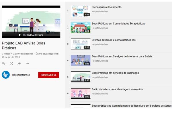 Projeto do HospitalMoinhosde Vento e Anvisa usa vídeos no YouTube para orientar sobre cuidados com a saúde