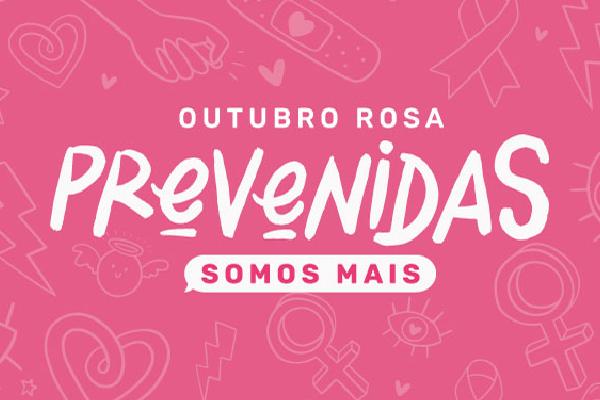 Outubro Rosa conscientização para a prevenção do câncer de mama