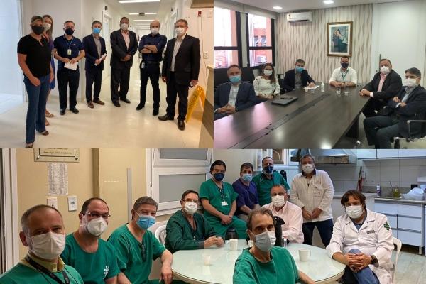 Presidente da Amrigs e novo secretário de Saúde de Porto Alegre visitam hospitais