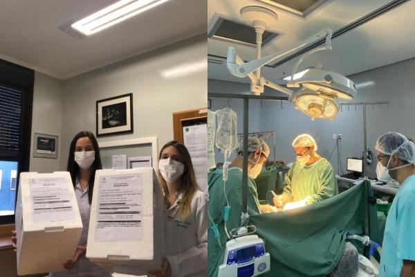 Nos primeiros dias de 2021, Santa Casa envia pele para Salvador e Belo Horizonte e realizacinco transplantes de órgãos
