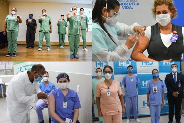 O início da vacinação nos hospitaisMãe de Deus, Santa Casa, Conceição e Ernesto Dornelles