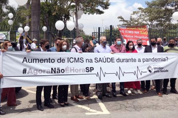 Entidades da Saúde vão às ruas contra medida que aumenta o ICMS em São Paulo e que impactará em todo o Brasil