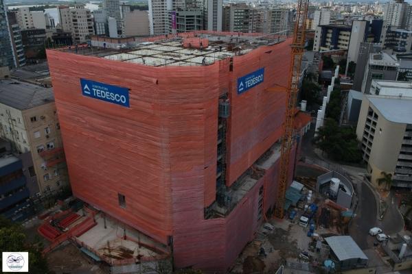 Santa Casa de Misericórdia de Porto Alegre divulga imagens do andamento das obras do Hospital Nora Teixeira