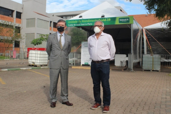 Unimed Porto Alegre inaugura estrutura emergencial para atendimento Covid-19 na AMRIGS