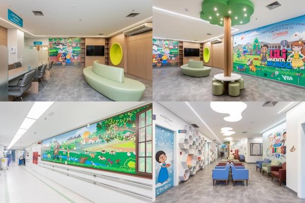 Hospital da Criança Santo Antônio apresenta nova ambientação inspirada na obra de Mario Quintana