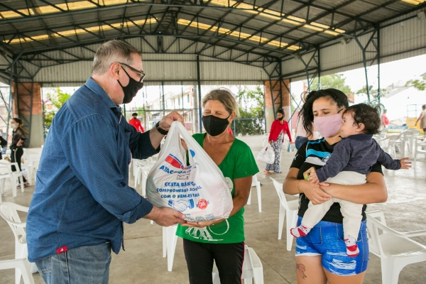HospitalMoinhosde Vento inicia entrega de 5 mil cestas básicas da campanha Prato Cheio de Solidariedade