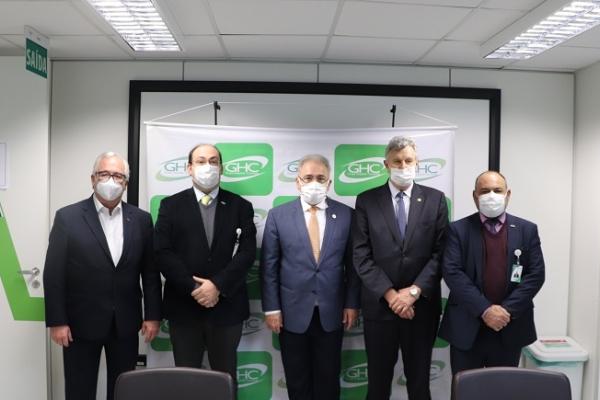 Ministro da Saúde visita o Hospital Conceição em Porto Alegre